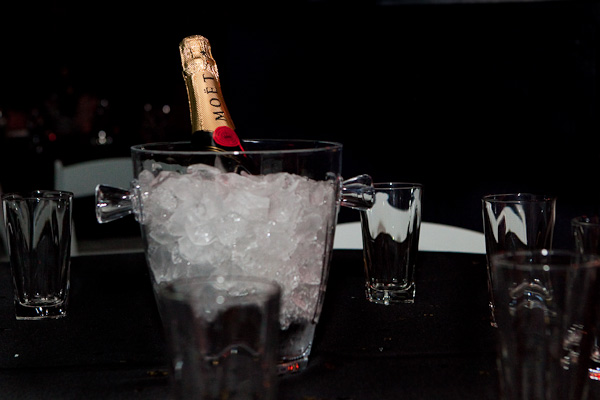 Bottle of Moet on Ice