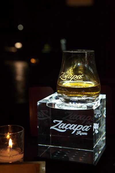 Zacapa in a glass illuminated from below