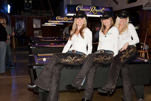 Crown Royal chaps on a Crown Royal table